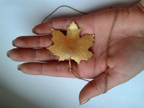 Maple Leaf in Matte Gold Steel
