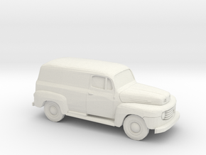 1/87 1948-50 Ford F 1 Panel Truck in White Natural Versatile Plastic
