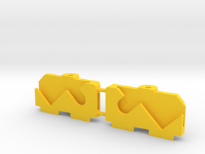 MyProto MPV4C AAA Front Support in Yellow Processed Versatile Plastic