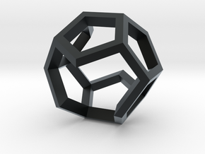 Dodecahedron Sculpture Ring B Gmtrx  in Black Hi-Def Acrylate