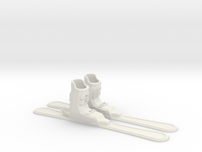Finger Skis in White Natural Versatile Plastic