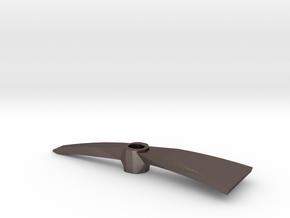 1:6 scale Pickaxe Mattock head in Polished Bronzed Silver Steel