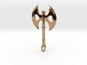 Queen of Hearts Axe Pendant in Polished Brass