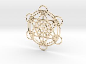 Metatron Grid Pendant in 14K Yellow Gold: Small