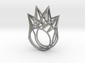 Rhombus Ring (Medium) in Natural Silver: 11 / 64