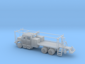 MOW Rail Truck 4 Door Cab 1-87 HO Scale in Smooth Fine Detail Plastic
