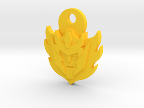 Rodimus Star Keychain in Yellow Strong & Flexible Polished