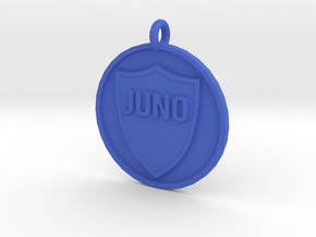 Juno's Pet Tag in Blue Processed Versatile Plastic