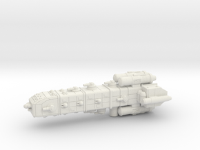 Colonial Battle Cruiser in White Natural Versatile Plastic