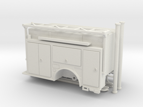 1/87 KME Camden engine body w/ ladder rack v2 in White Natural Versatile Plastic