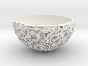 Galaxy Bonsai Pot XXL (17 cm) in White Natural Versatile Plastic