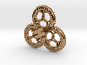 Trefoil Jewel 'Gelre' in Polished Brass