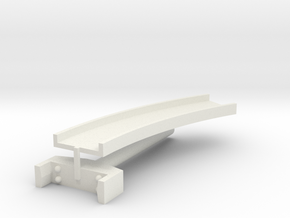 T-gauge curved bridge 132 mm in White Natural Versatile Plastic