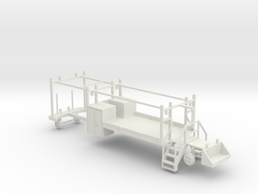 MOW Rail Truck For A Two Door Cab 1-87 HO Scale  in White Natural Versatile Plastic
