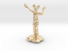Wilden Warden Greenman Standing Pose in 14K Yellow Gold