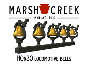 HOn30 Small Bell (5) in Smoothest Fine Detail Plastic