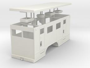 1/50th Hydraulic Fracturing Data Van body dual axl in White Natural Versatile Plastic