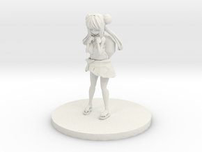 Anime Figurine inspired by Bulbasaur in White Natural Versatile Plastic: Small
