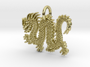 Chinese Dragon Pendant in 18k Gold Plated