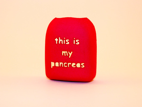 Omnipod Pod Cover - This is my pancreas in Pink Processed Versatile Plastic