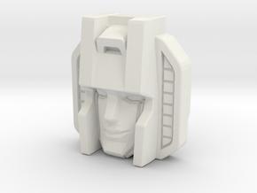 Strascream, Voyager Face (Titans Return) in White Natural Versatile Plastic