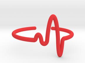 Pulse Bracelet in Red Processed Versatile Plastic