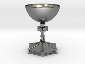 Medieval Goblet miniatur in Polished Silver