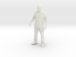 Printle C Homme 042 - 1/20 - wob in White Natural Versatile Plastic