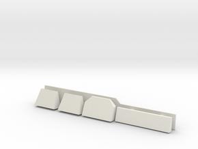 1/144 Burke Detail's - Radar Shelves in White Strong & Flexible