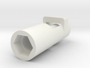 Heimeier radiator valve servo mount arduino  in White Natural Versatile Plastic
