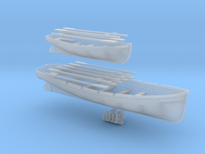1/100 DKM 8m & 6m Long Boats Set in Smooth Fine Detail Plastic