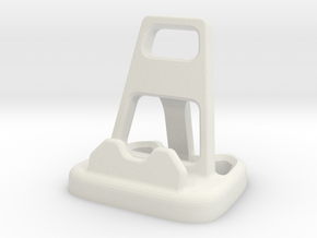 Angular Cellphone / Tablet Stand in White Natural Versatile Plastic