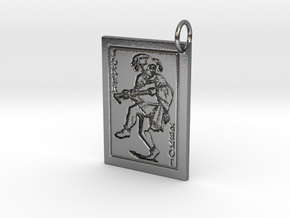 Joker Keychain/Pendant in Polished Silver