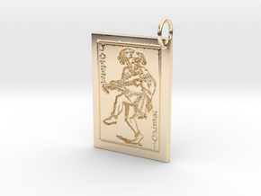 Joker Keychain/Pendant in 14k Gold Plated Brass