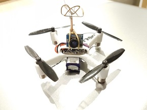 Fusion Micro Brushed FPV Frame 90 MTM in White Natural Versatile Plastic