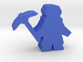 Game Piece, Dwarven Miner in Blue Processed Versatile Plastic