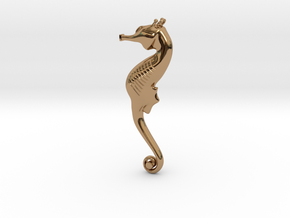 Elegant SeaHorse in Polished Brass