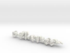 Twine Romeo/Juliette in White Natural Versatile Plastic