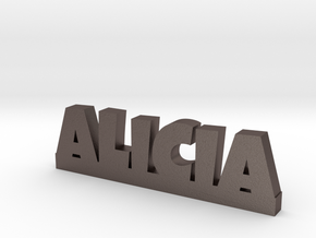 ALICIA Lucky in Polished Bronzed Silver Steel