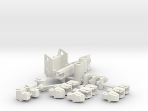 COMBINER BIG FIST LEFT in White Natural Versatile Plastic