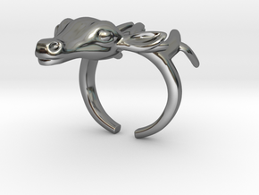 Ring+Deer+Size+7+US in Fine Detail Polished Silver
