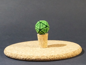 The D20 of Evil in Green Processed Versatile Plastic