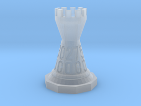 Chess-shaped Dice Set (small) in Frosted Ultra Detail: d00