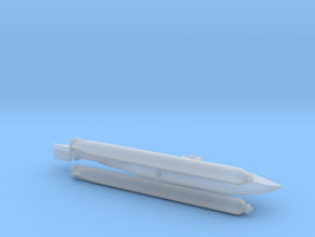 "German Midger Submarine ""Biber"" 1/144 in Smooth Fine Detail Plastic"