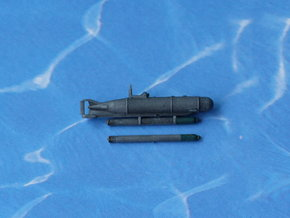 "German Midget Submarine ""Hecht"" 1/144 in Smooth Fine Detail Plastic"
