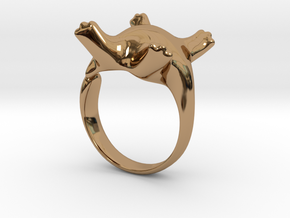 Cat Ring II -the lazy in Polished Brass: 5 / 49