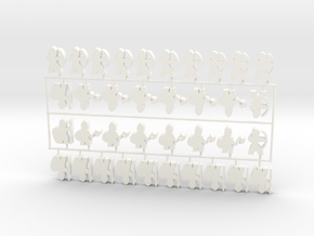 Custom Order 020617 36-set in White Processed Versatile Plastic