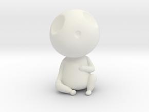 Kodama Pose1 - Princess Mononoke in White Natural Versatile Plastic