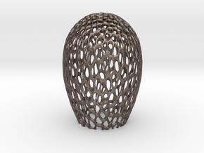 Alien Egg Shell in Polished Bronzed Silver Steel: Medium