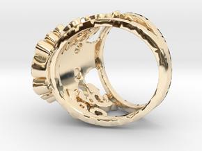 The Handsome Joker - Skull ring in 14K Yellow Gold